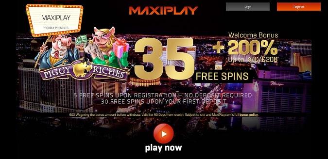 MaxiPlay Casino free spins