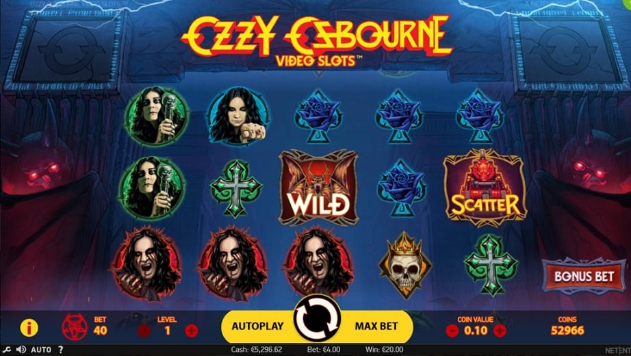 Ozzy Osbourne Video Slot - NetEnt