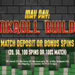 Planet Fruity casino's May Day promotion