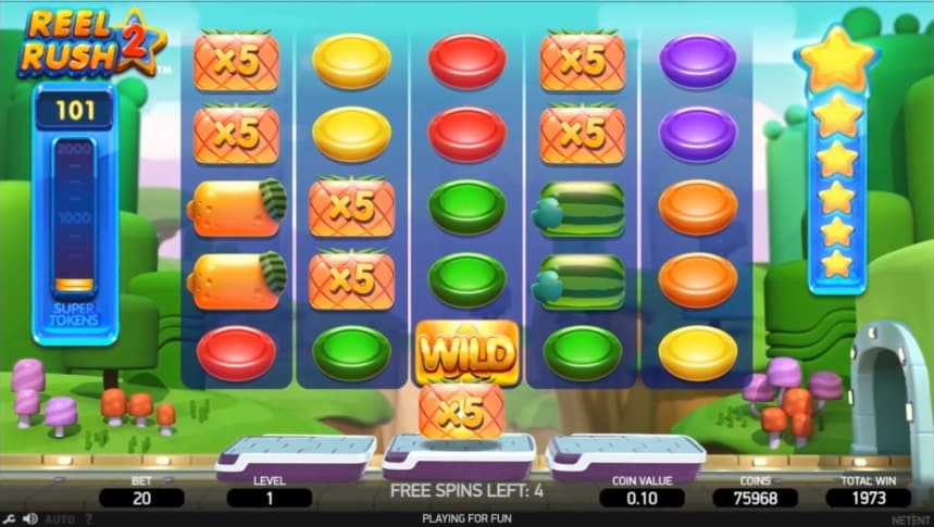 Reel Rush 2 Video Slot - NetEnt