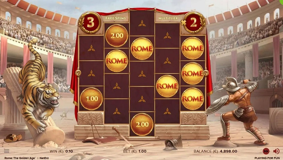 Rome: The Golden Age Video Slot - NetEnt