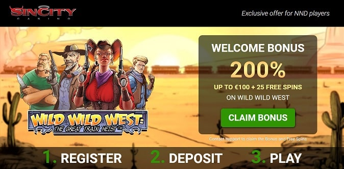 Sin City Casino exclusive offer