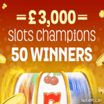 Slots Champions - £3,000 from Spin And Win