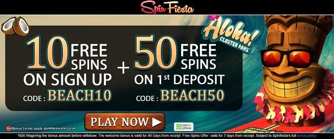 Spin Fiesta free spins