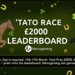 Sunset Spins casino's 'Tato Race for £2000
