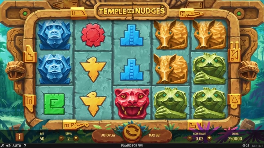 Temple of Nudges Video Slot - NetEnt