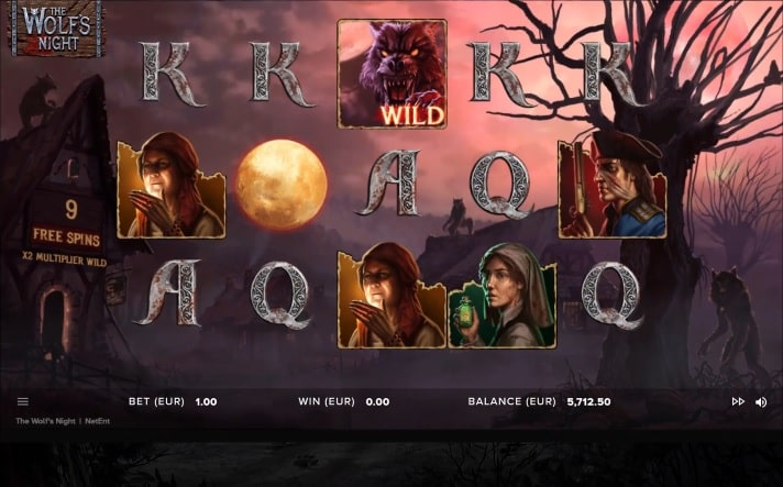 The Wolf's Night Video Slot - NetEnt