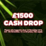 A £1500 Cash Drop by The Sun Play casino