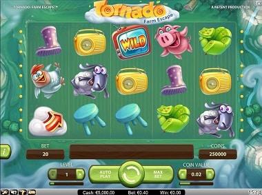 NetEnt Video Slot - Tornado: Farmscape