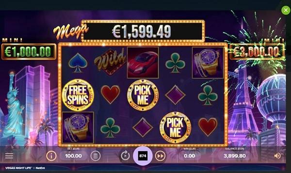 Vegas Night Life Video Slot - NetEnt