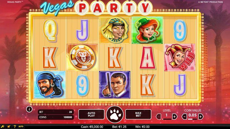 Vegas Party NetEnt slot