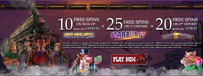 Vegas Mobile Casino promotion