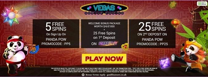 Vegas Mobile Casino bonus + free spins
