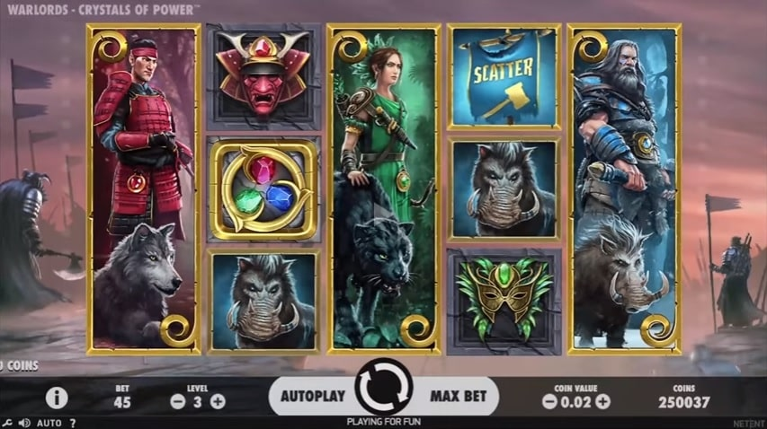 Warlords: Crystals of Power Video Slot from NetEnt