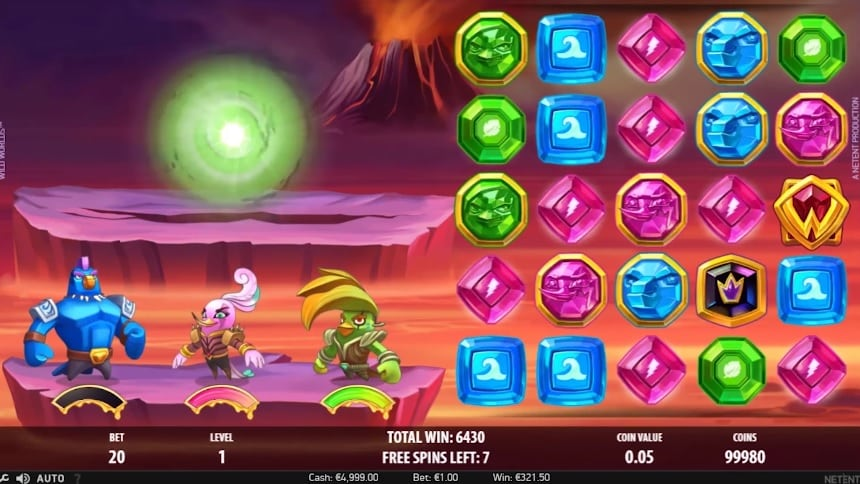 Wild Worlds Video Slot - NetEnt