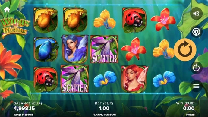 Wings of Riches Video Slot - NetEnt